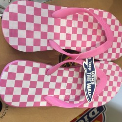 Chinelos VANS Pink/White Chess